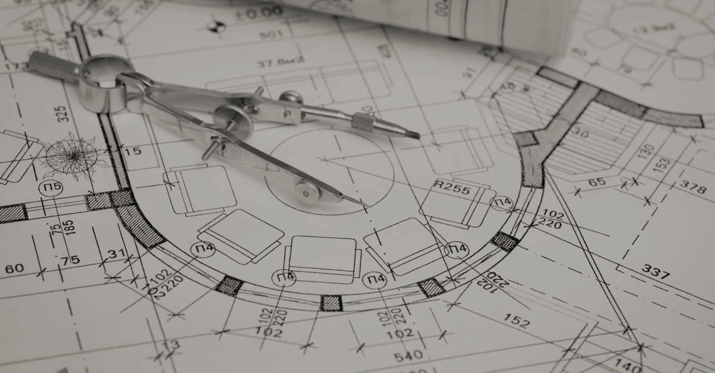 [Header] [Insights] Architectural plan and compass